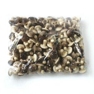 100x Artificial mini mushroom fake food Vegetable Fruit kitchen Home Party Decor