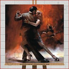 Argentine Tango Dance Dancing Dancers Modern Framed Box Canvas Print Picture