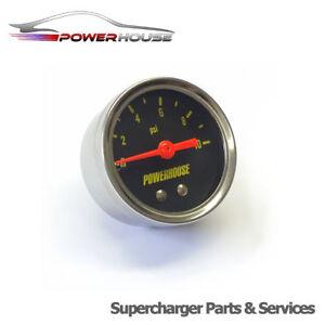 10 Psi Fuel Pressure Gauge 40mm Universal Tuning Retro 0.68 Bar Carburetted