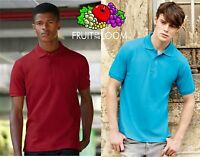 POLO PREMIUM uomo manica corta FRUIT OF THE LOOM 100% COTONE 13 colori T-shir