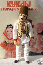 Porcelain doll handmade in national costume - Moldovan men's suit  № 92