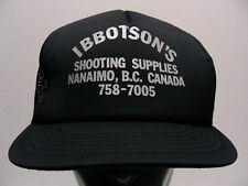 IBBOTSON'S SHOOTING SUPPLIES - NANAIMO, B.C. CANADA - TRUCKER BALL CAP HAT!