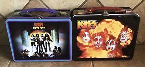 2 Kiss Aucoin Band Memorabilia Lunchboxes - Love Gun & The Originals (Clean)