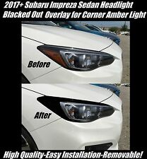 2017 + Subaru Impreza Sedan Head Light Black Out Overlay for Corner Amber Light