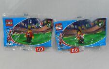 LEGO Coca Cola Japan Soccer 4443 & 4444 Defender Minifig Set NEW Polybags