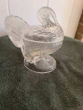 Cambridge Glass Co Covered Turkey Dish