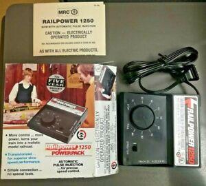 Railpower 1250 Rare Vintage Railroad Hobby Transformer Power BLK w/ Box & Manual