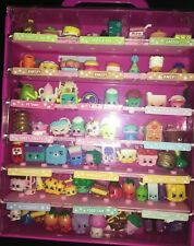 Completely full Shopkins Store Collector's Case PLUS LOT of 68 SHOPKINS