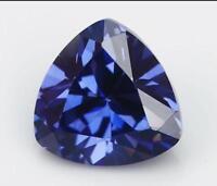 Unheated 3.25ct 8x8mm Blue Tanzanite Trillion Shape AAAAA Loose Gemstone