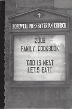 *THOMPSON RIDGE NY *HOPWELL PRESBYTERIAN CHURCH COOK BOOK *GOD IS NEAT LET'S EAT
