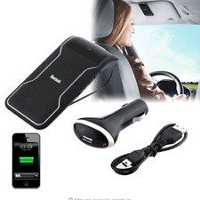 Car Wireless Bluetooth Handsfree Speaker Cell Phone Sun Visor Clip Phone Charger