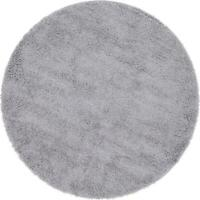 Unique Loom Davos Shag Sterling 4 ft. x 4 ft. Round Area Rug