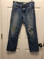Girls Aeropostale Essex Strait Leg Blue Jeans Distressed 28/28