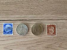 2 Mark WW2 German Silver Coin Third Reich only Swastika 1936 random pick