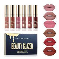 BEAUTY GLAZED 6 Couleur Set Rouge à Lèvres Liquide Mat Longue Tenue #01