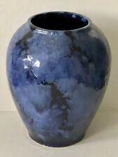Vintage ROSEVILLE ART Pottery Carnelian LAPIS Blue Mottled Arts & Crafts Vase