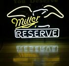 Vintage You Deserve Miller Reserve With Bald Eagle Neon Beer Sign 1994