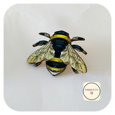 Wooden Bee brooch  🐝large Size ⭐ Handmade By Letti ⭐