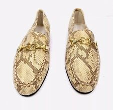 Escada Vintage Shoes Car Loafers 4.5 Suede Iridescent Shimmer Gold Beige Nwob
