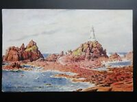 Jersey: Corbiere Rocks and Lighthouse c1949 Pub By J Salmon 1944