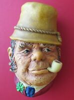 Vintage Bossons - PADDY - Chalkware Made in England - Wall Hanging ©1969