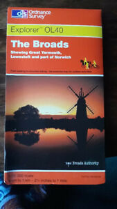 Norfolk Broads OS 1:25000 good for Hiking, boating, cycling map