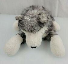 "Folkmanis Folktails Timber Wolf Husky Dog Gray Hand Puppet Full Body Plush 20"""