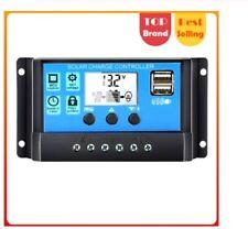 Solar Charge Controller 60A/50A/40A/30A/20A/10A 12V 24V Auto PWM LCD Dual USB 5V