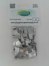 Two Packs x 50 Part Formed Greenhouse Overlap Glazing Clips Original Elite Parts
