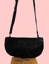 PATRICIA NASH Black Hair Calf PALMA Italian Leather Cross-Body Bag Msrp $198.00