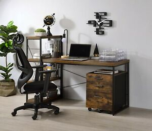 Office/College Dorm ACME Bob Desk, Weathered Oak