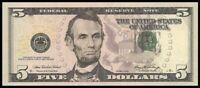 Amérique, USA Billet 5 Dollars - Etat neuf - Envoi Gratuit