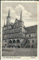 """Ansichtskarte """"Das 1000 - jährige Duderstadt - Rathaus - Frontalansicht"""" - s/w"""