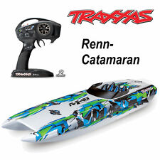 TRAXXAS DCB M41 weiß/grün 40Zoll  BL-Catamaran-Renn-Boot Brushless 80km/h