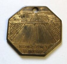 New Jersey Turnpike Metal with Hole Souvenir Octagon Brass
