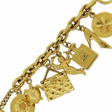 Chanel Gold Tone Multi Charm Bracelet