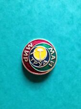 "USSR PIN Badge Button SOVIET UNION HAMMER and SICKLE ""PEACE LABOR MAY!"" Vintage."