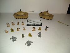2-Unimax Diecast Tank and micro figures lot