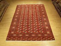 7 x 10 Very Fine Handmade Antique Tekke Turkoman Collectable Veggie Dye Wool Rug