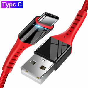 Type C USB-C Charger Fast Charging Sync Data Cable For Samsung S10 Plus S10e S9