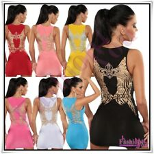 Sexy Women's Angel Wings Mini Dress Ladies Everyday Dress One Size 6,8,10,12 UK