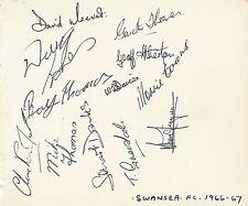 Swansea Rugby Equipo 1966 - 1967 Página del álbum de FIRMADA + CERTIFICADO DE AUTENTICIDAD