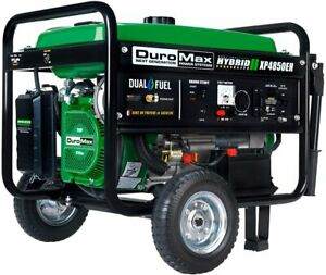 NEW DuroMax XP4850EH Generator-4850 Watt Gas or Propane Powered-Electric Start-C