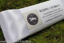 Wedding Car Ribbon - White Satin Ribbon - Decorate your Bridal Car - 50mm x 6m