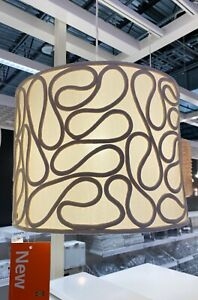 "Ikea VINGMAST Lamp Shade, Rope Pattern Beige 17"" - NEW"