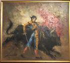 Bullfighter Painting by Zarinkelk. Mid Century Oil On Canvas