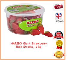 HARIBO Giant Strawberry Bulk Sweets, 1 kg  (Kids treats vegetarians)
