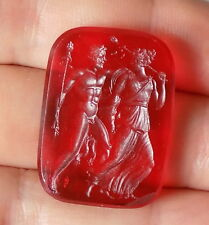 Glass Intaglio Seal Georgian Roman Gods