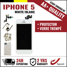 AA+ LCD TOUCH SCREEN SCHERM ÉCRAN ASSEMBLY WHITE BLANC+VERRE TREMPÉ FOR IPHONE 5