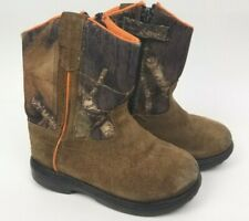27a01213967ab Game Winner Toddler Boy Sz J9.0 Boots Camouflage Hunting Boots Safety  Orange Zip